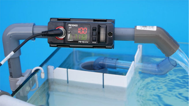 オーバーフロー水槽 流量測定 HSBAO DEP キーエンス FD-Q