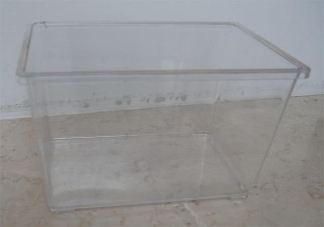 オーバーフロー水槽 流量測定 プラバケツ
