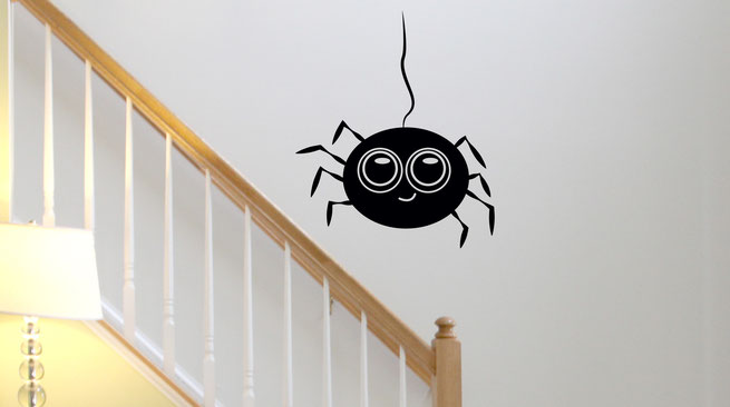Easy to stick on Halloween themed cute Spider available from www.wallartcompany.co.uk