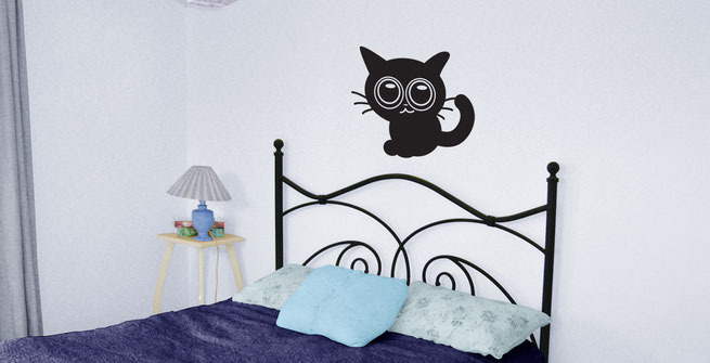 Easy to stick on Halloween themed cute Cat is available from www.wallartcompany.co.uk