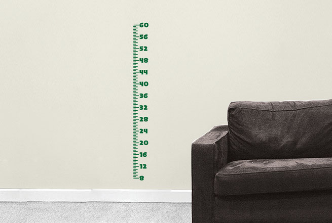 Plain Height Chart childrens growth chart vinyl Wall art decal from www.wallartcompany.co.uk