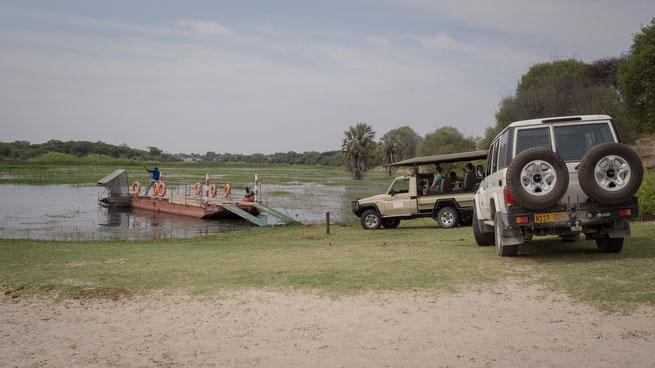 Makgadikgadi Nationalpark, Fähre bei Xhumaga