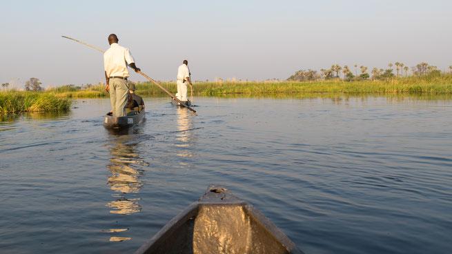 mokoro gunns camp | okavango delta | botswana