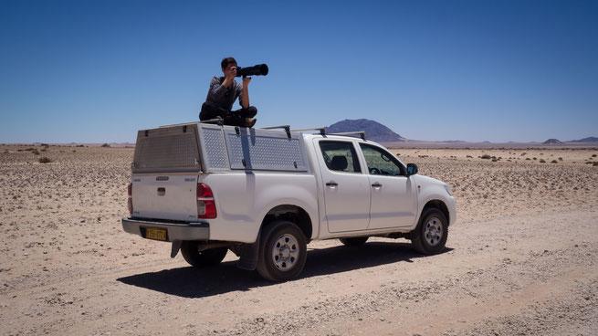 GarupWasserloch Namib Wüste Namibia
