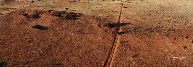 drone photo kgalagadi transfrontier park