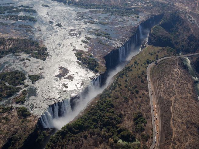 helikopterflug | victoria falls | simbabwe
