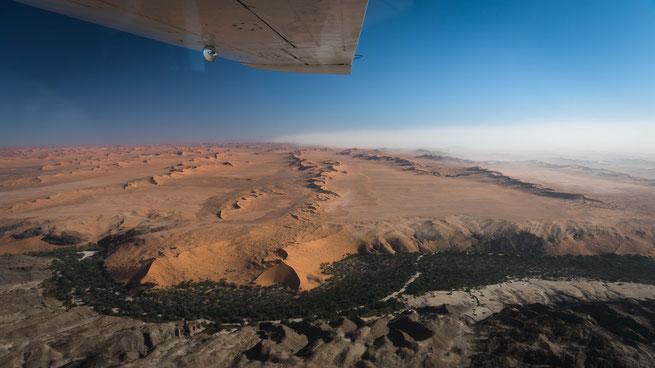 Flug Cessna Namib Wüste Namibia