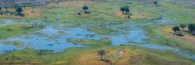 areal photograph okavango delta botswana africa