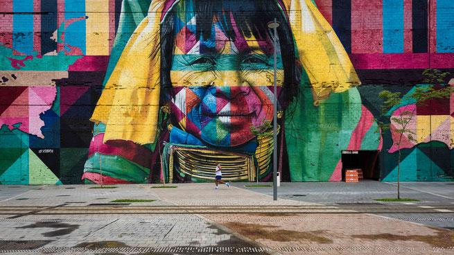 eduardo kobra | etnias | rio de janeiro | brazil 2017