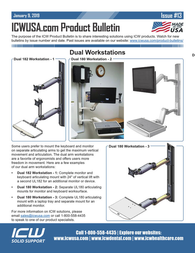 ICWUSA モニターアーム デュアルワークステーション ディスプレイ キーボード ノートPC