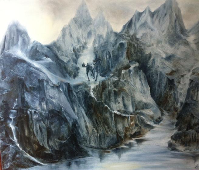 La Walkyrie 2017 - oil on canvas - cm 100x120