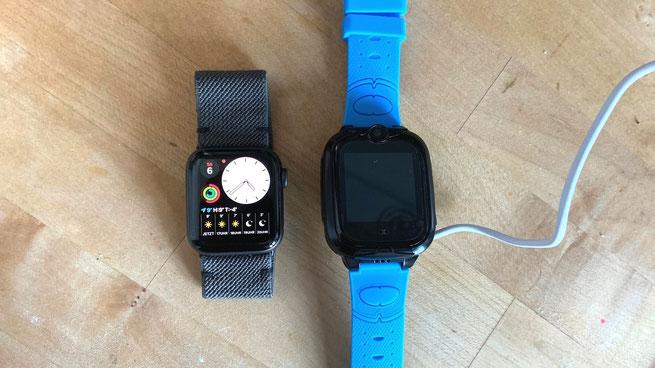 Xplora Go2 ist größer als Apple Watch 5