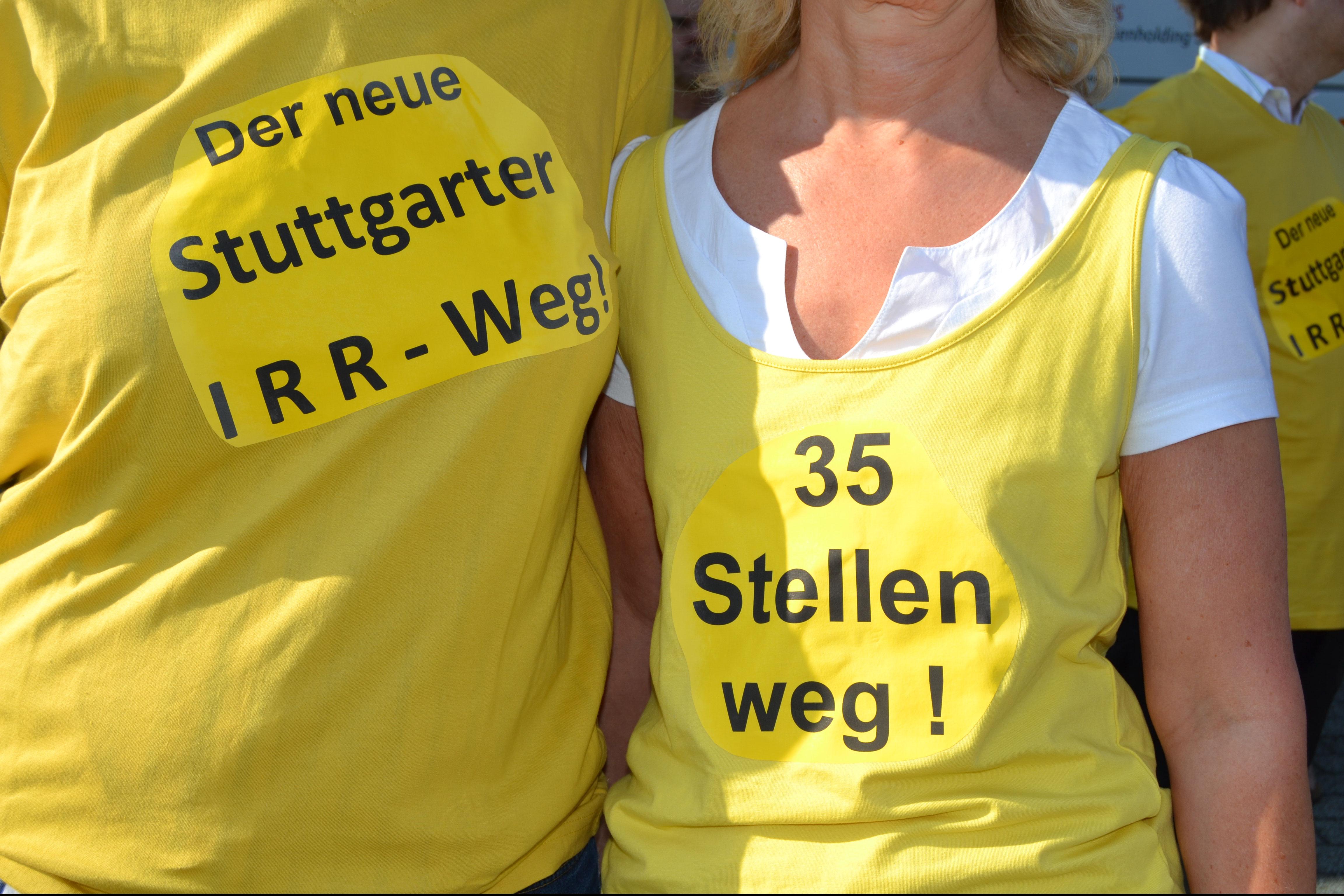 Bereits 2015 wiesen die Kolleg*innen beim Stuttgarter Pressehaus auf den Irrweg hin – und bekommen wiederum recht. Foto: Christoph Holbein