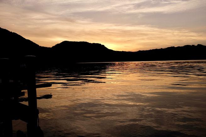 Traunsee bei Sonnenuntergang
