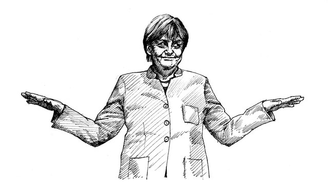 Zeichnung Angela Merkels