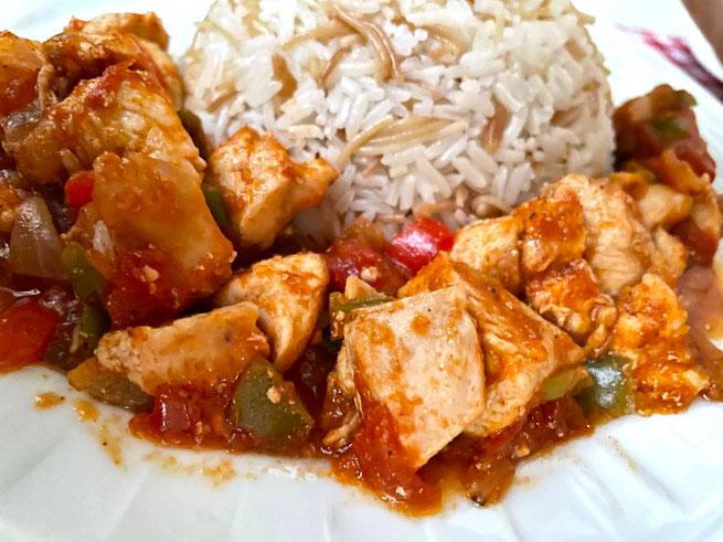 Hähnchen Pfanne Paprika (Tavuk Sote)