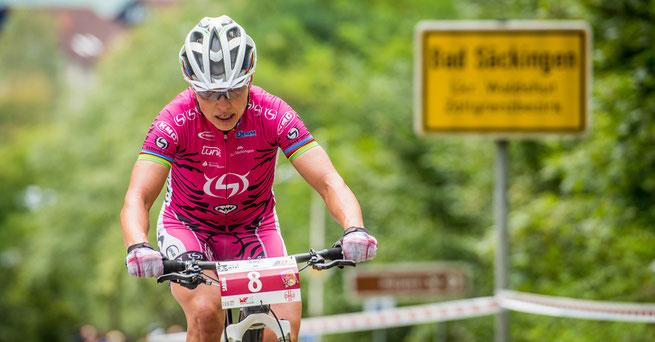 Sabine Spitz ist Namensgeberin und zugleich Lokalmatadorin der Gold Trophy © Armin M. Küstenbrück/EGO Promotion