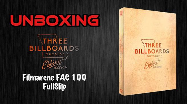 Three Billboards Outside Ebbing, Missouri Filmarena FullSlip Unboxing