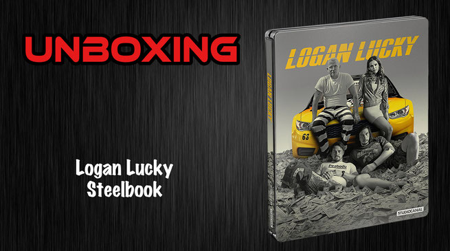 Logan Lucky Steelbook Unboxing