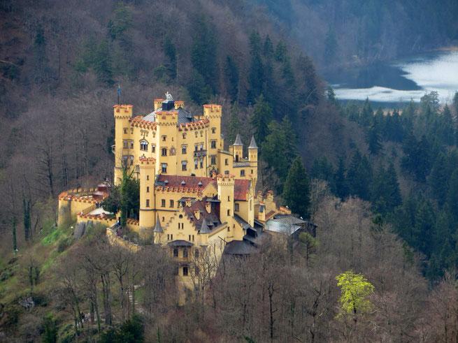 Hohenšvangau pilis viduramžiais priklausė Švangau ordino riteriams / Foto: Kristina Stalnionytė