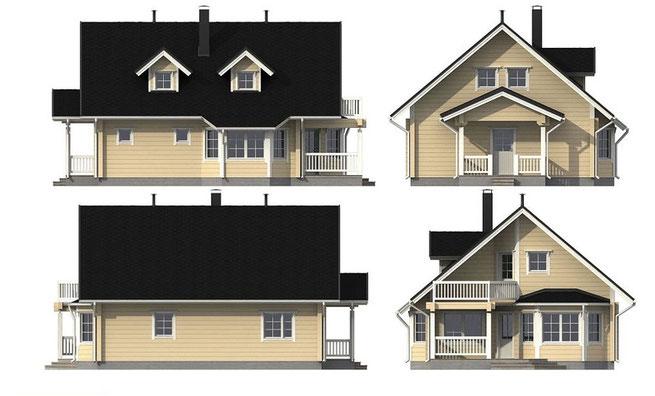 Echte Blockhäuser - Massive Holzhäuser - Hausbau - Planung und Montage von Blockhäusern in Niedersachsen - Lüneburg - Blockhausbau - Blockhaus bauen - Holzbau - Ököhäuser nach moderner Art - Massivholzhaus - Architektenhaus - Designhaus - Entwurfsplanung