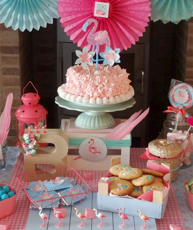pastel fiesta flamingo