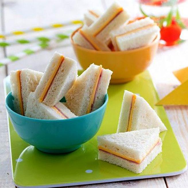sandwich para fiestas infantiles