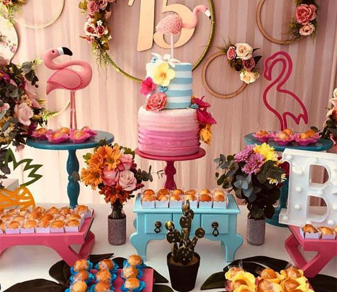 15 años fiesta flamingo
