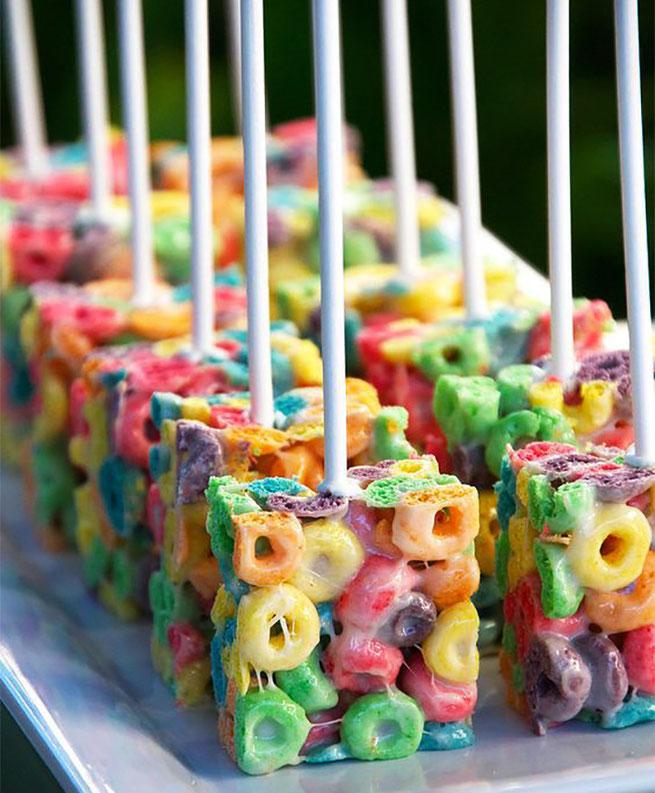 paletas de cereal para fiestas