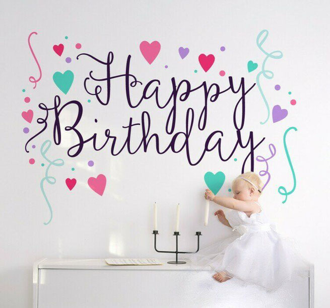 vinil decorativo cumpleaños