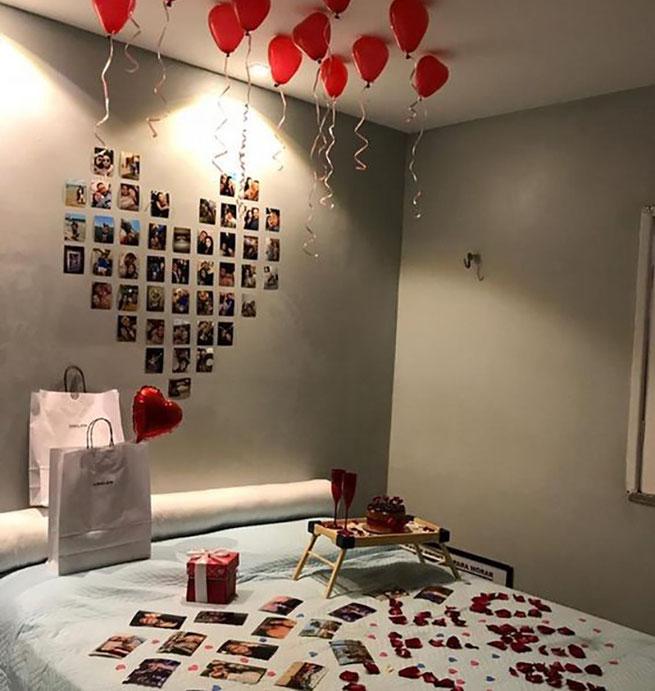 decoracion de cuarto para san valentin