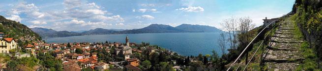 Bild: Blick auf Cannero Riviera