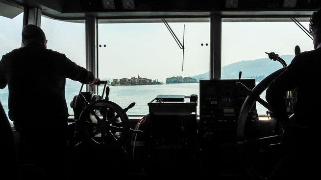Bild Blick vom Schiff zur Insel Isola Superior