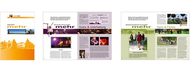 Broschüre Stadtinformation Moers