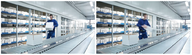 Two photos showing packaging in the pharmaceutical industry