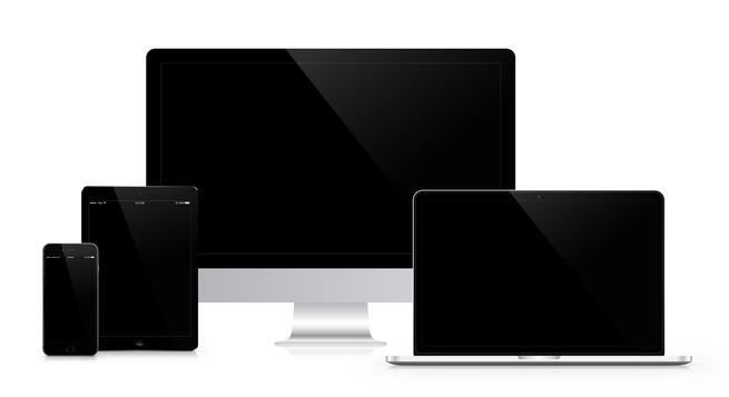 iMac, Tablet und Laptop
