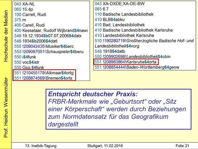 """Folie aus meinem Vortrag """"Sacherschließung in einer RDA-Welt"""" auf der InetBib-Tagung in Stuttgart"""