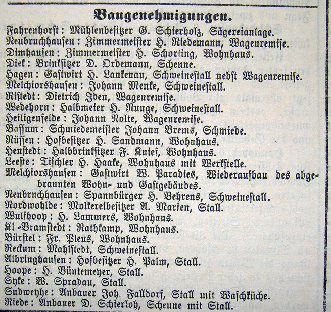 Syker Zeitung 09.02.1909