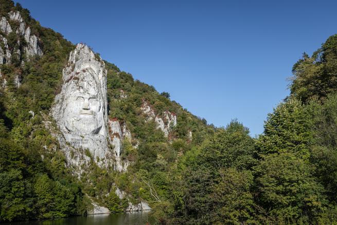 Statue des Decebalus - Statue des Dakerkönigs / Rumänien Reisebericht
