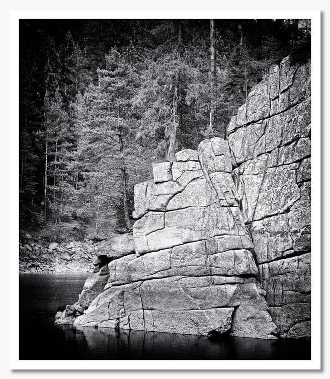 Stausee Ottenstein, Felswand, cr-foto