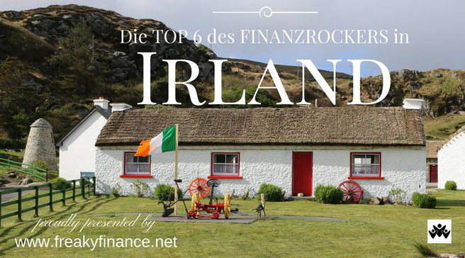 freaky travel, Finanzrocker, TOP 6 Irland, Cottage Haus, Irland Flagge, Vorgarten