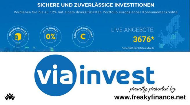 freaky finance, P2P-Kredite, Viainvest, Erfahrungen nach einem Jahr, Erfahrungsbericht, Review, Viainvest Meinungen, Viainvest Interview