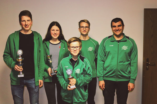 Sieger Sommerbiathlon mit Trainer Matthias Raab