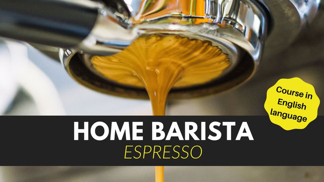 Home Barista Course. How to brew coffee with an espresso machine at home.