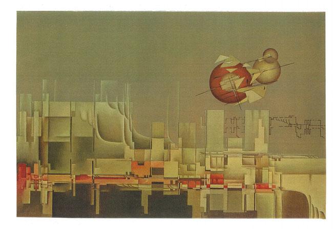 Le Rouge-gorge/Das Rotkehlchen. Studie zu Olivier Messiaen, 2001, Öl, 40x60