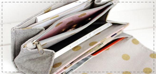 Julia Design Handarbeit handmade Portemonnaie Geldbörse Geldbeutel Geld