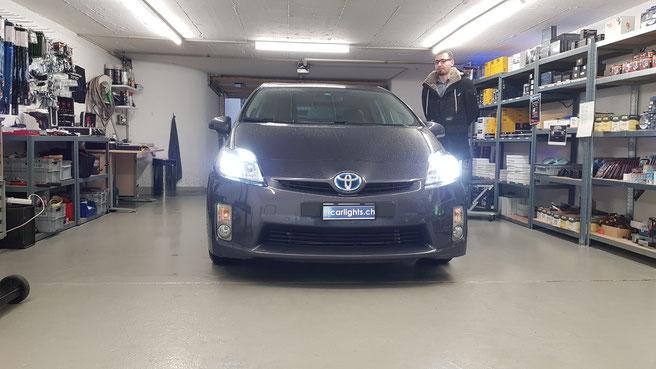 Toyota PRIUS  Hybrid 2010 LED Umbau H11 Abblendlicht, Standlicht T10  canbus Swiss Made