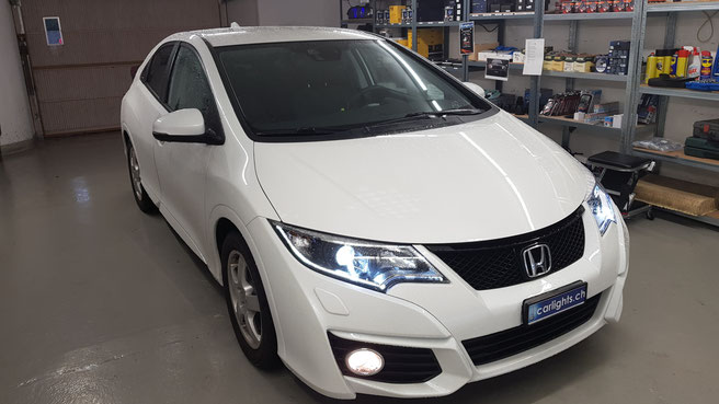 HONDA CIVIC LED Umbau H7 B6 diamond edition