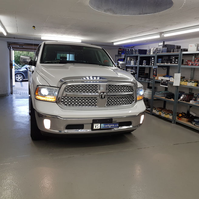 DODGE RAM LED UMBAU  Abblend-Fern-Nebel-Standlicht, Rückfahr-Bremslicht