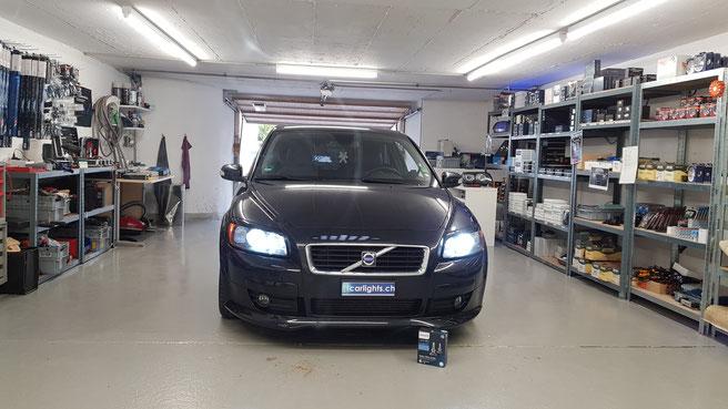 VOLVO C30 LED Umbau Abblendlicht, Standlicht h7 Philips X-Treme Ultinon W5W Swiss Made